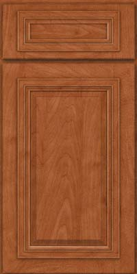 Square Raised Panel - Solid (AA7M) Maple in Cinnamon - Base