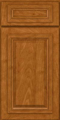 Square Raised Panel - Solid (AA7M) Maple in Golden Lager - Base