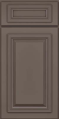 Square Raised Panel - Solid (AA7M) Maple in Greyloft w/ Sable Glaze - Base