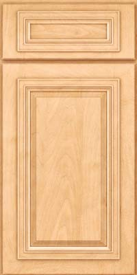 Square Raised Panel - Solid (AA7M) Maple in Honey Spice - Base