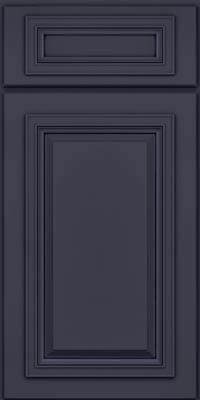 Square Raised Panel - Solid (AA7M) Maple in Midnight w/ Onyx Glaze - Base