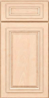 Square Raised Panel - Solid (AA7M) Maple in Parchment - Base
