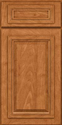 Square Raised Panel - Solid (AA7M) Maple in Praline w/Mocha Highlight - Base