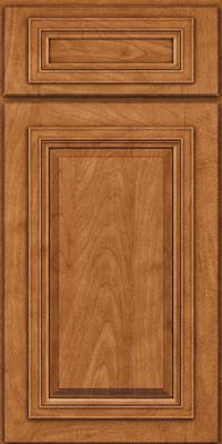 Square Raised Panel - Solid (AA7M) Maple in Praline w/Onyx Glaze - Base