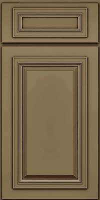 Square Raised Panel - Solid (AA7M) Maple in Sage w/Cocoa Glaze - Base
