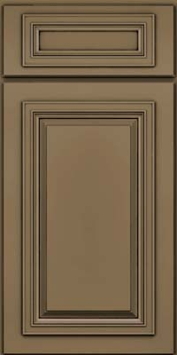 Square Raised Panel - Solid (AA7M) Maple in Sage w/Onyx Glaze - Base