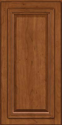 Square Raised Panel - Solid (AA7C) Cherry in Antique Chocolate w/Mocha Glaze - Wall