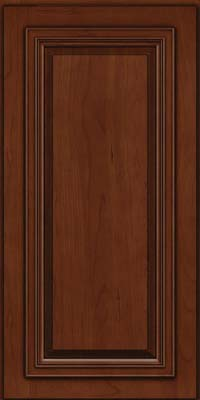Square Raised Panel - Solid (AA7C) Cherry in Autumn Blush w/Onyx Glaze - Wall