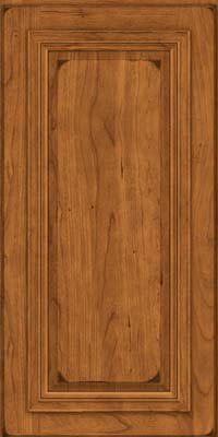 Square Raised Panel - Solid (AA7C) Cherry in Burnished Golden Lager - Wall