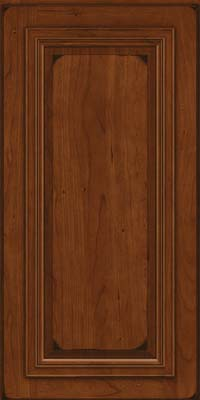 Square Raised Panel - Solid (AA7C) Cherry in Burnished Autumn Blush - Wall