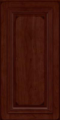 Square Raised Panel - Solid (AA7C) Cherry in Burnished Cabernet - Wall