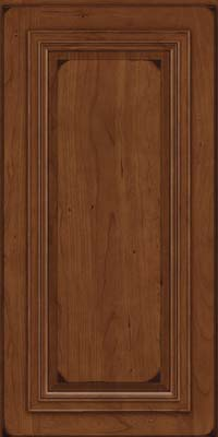 Square Raised Panel - Solid (AA7C) Cherry in Burnished Chocolate - Wall