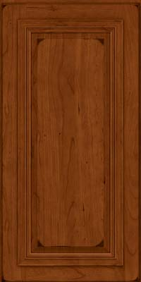 Square Raised Panel - Solid (AA7C) Cherry in Burnished Cinnamon - Wall