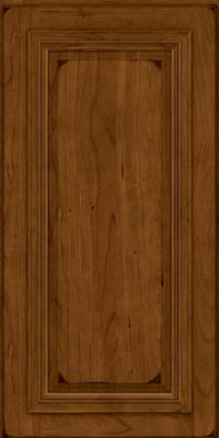 Square Raised Panel - Solid (AA7C) Cherry in Burnished Ginger - Wall