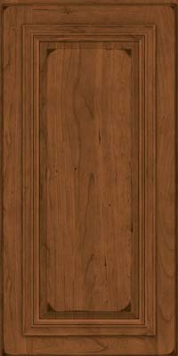 Square Raised Panel - Solid (AA7C) Cherry in Burnished Rye - Wall