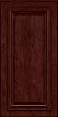 Square Raised Panel - Solid (AA7C) Cherry in Cabernet - Wall
