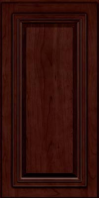 Square Raised Panel - Solid (AA7C) Cherry in Cabernet w/Onyx Glaze - Wall