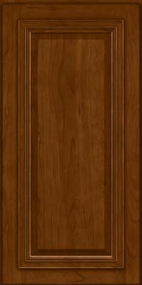 Square Raised Panel - Solid (AA7C) Cherry in Chocolate - Wall