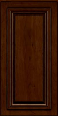 Square Raised Panel - Solid (AA7C) Cherry in Chocolate w/Ebony Glaze - Wall