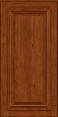 Square Raised Panel - Solid (AA7C) Cherry in Cinnamon - Wall