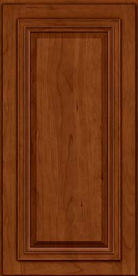 Square Raised Panel - Solid (AA7C) Cherry in Cinnamon w/Onyx Glaze - Wall