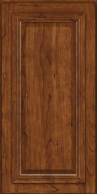 Square Raised Panel - Solid (AA7C) Cherry in Cognac - Wall