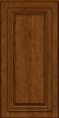 Square Raised Panel - Solid (AA7C) Cherry in Ginger w/Sable Glaze - Wall