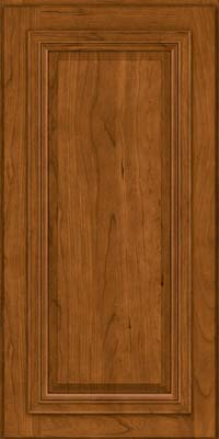 Square Raised Panel - Solid (AA7C) Cherry in Golden Lager - Wall