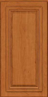 Square Raised Panel - Solid (AA7C) Cherry in Honey Spice - Wall