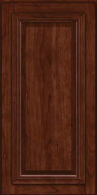 Square Raised Panel - Solid (AA7C) Cherry in Kaffe - Wall
