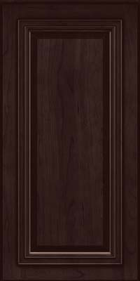 Square Raised Panel - Solid (AA7C) Cherry in Peppercorn - Wall