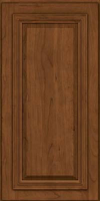 Square Raised Panel - Solid (AA7C) Cherry in Rye w/Sable Glaze - Wall