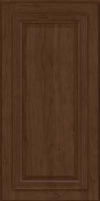 Square Raised Panel - Solid (AA7C) Cherry in Saddle - Wall