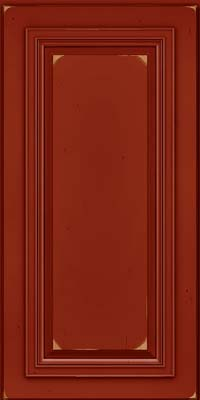 Square Raised Panel - Solid (AA7C) Cherry in Vintage Cardinal - Wall