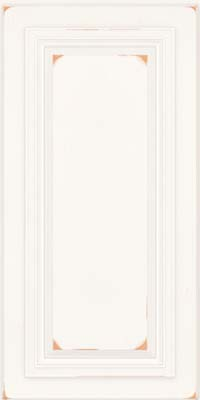 Square Raised Panel - Solid (AA7C) Cherry in Vintage Dove White - Wall
