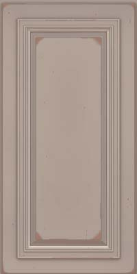 Square Raised Panel - Solid (AA7C) Cherry in Vintage Pebble Grey w/ Cocoa Patina - Wall
