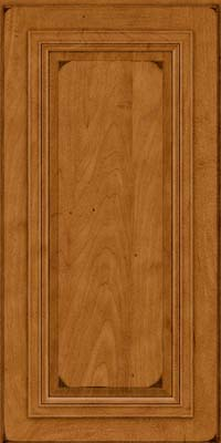Square Raised Panel - Solid (AA7M) Maple in Burnished Golden Lager - Wall
