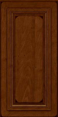 Square Raised Panel - Solid (AA7M) Maple in Burnished Chestnut - Wall