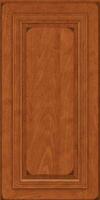 Square Raised Panel - Solid (AA7M) Maple in Burnished Cinnamon - Wall