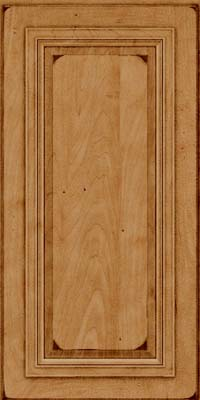 Square Raised Panel - Solid (AA7M) Maple in Burnished Ginger - Wall