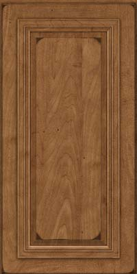 Square Raised Panel - Solid (AA7M) Maple in Burnished Rye - Wall