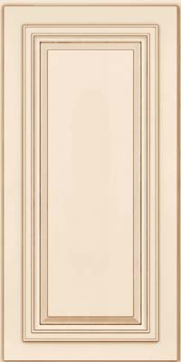 Square Raised Panel - Solid (AA7M) Maple in Canvas w/Cocoa Glaze - Wall