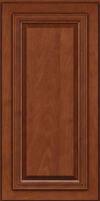 Square Raised Panel - Solid (AA7M) Maple in Chestnut w/Onyx Glaze - Wall