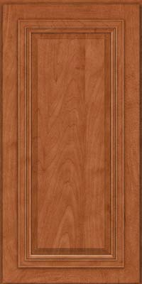 Square Raised Panel - Solid (AA7M) Maple in Cinnamon - Wall