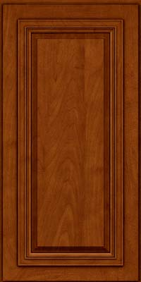 Square Raised Panel - Solid (AA7M) Maple in Cinnamon w/Onyx Glaze - Wall