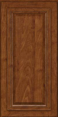 Square Raised Panel - Solid (AA7M) Maple in Cognac - Wall