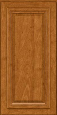Square Raised Panel - Solid (AA7M) Maple in Golden Lager - Wall