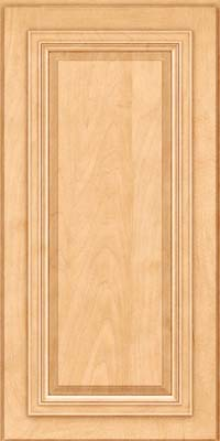 Square Raised Panel - Solid (AA7M) Maple in Honey Spice - Wall