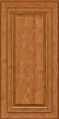 Square Raised Panel - Solid (AA7M) Maple in Praline w/Mocha Highlight - Wall