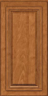 Square Raised Panel - Solid (AA7M) Maple in Praline w/Onyx Glaze - Wall